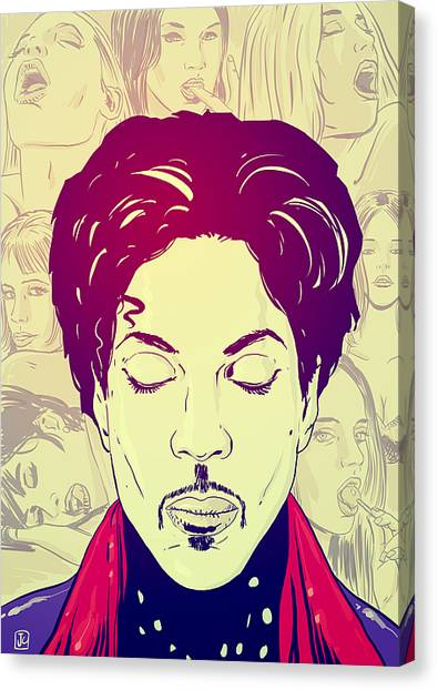 Musicians Canvas Print - Prince by Giuseppe Cristiano