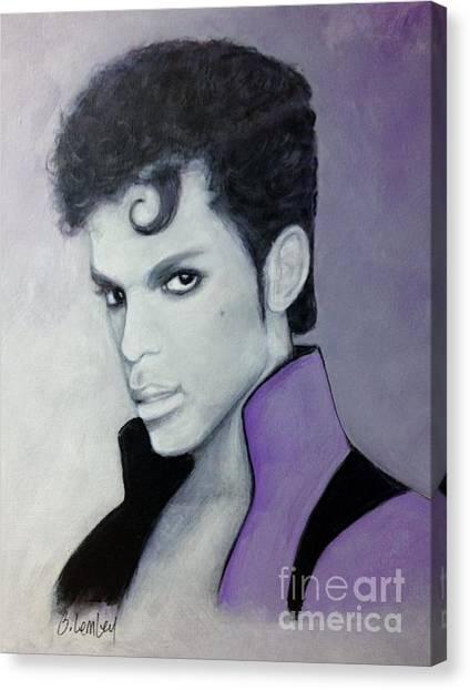 Purple Prince Canvas Print