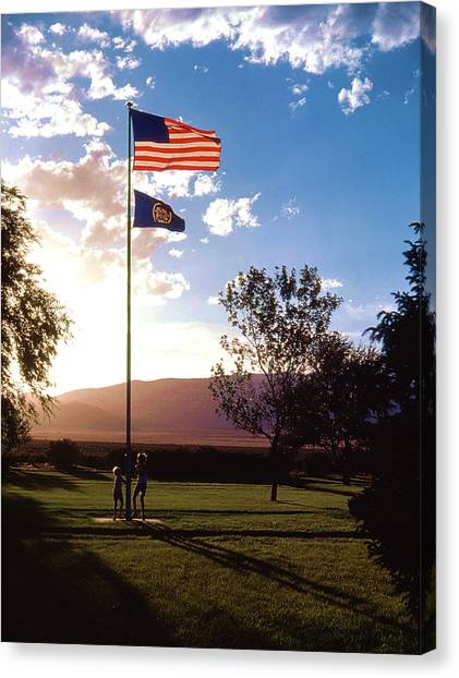 Rally Around The Flag Canvas Print