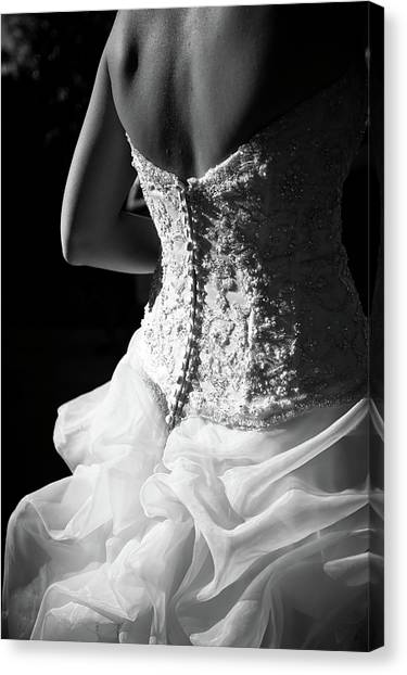 Women Only Canvas Print - Rear View Of Bride by John B. Mueller Photography