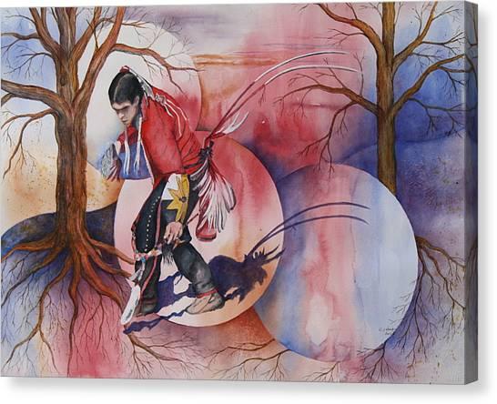 Red Dancer Canvas Print