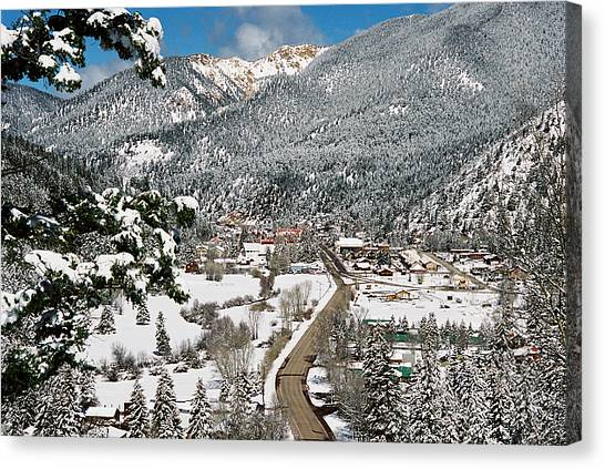 Red River In Winter Canvas Print