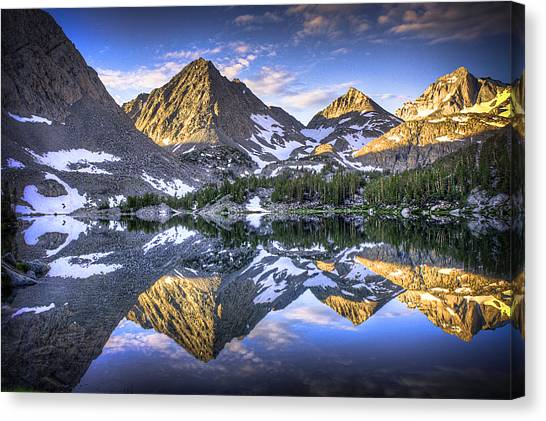 Wilderness Canvas Print - Reflection Of Mountain In Lake by RMB Images / Photography by Robert Bowman