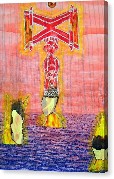 Shango Canvas Print by Duwayne Washington