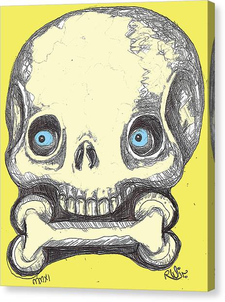 Skullnbone Canvas Print by Robert Wolverton Jr
