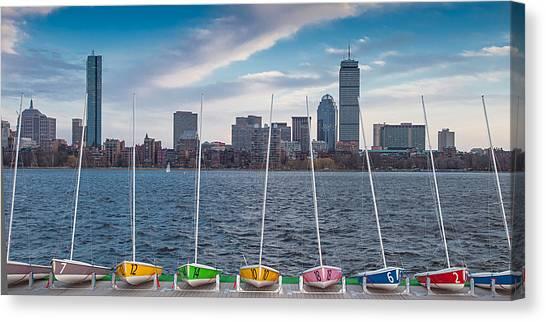 Skyline Sailboats Canvas Print