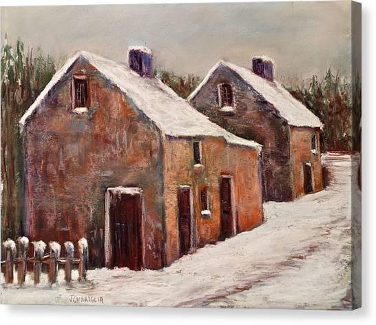 Snow Fall In Ireland Canvas Print by Joyce A Guariglia