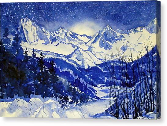 South Lake Blue Canvas Print