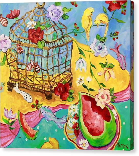 Springtime Romance Canvas Print