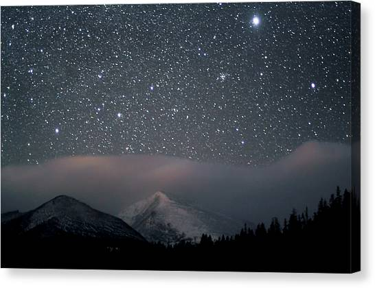 Mountain Ranges Canvas Print - Stars Over Rocky Mountain National Park by Pat Gaines