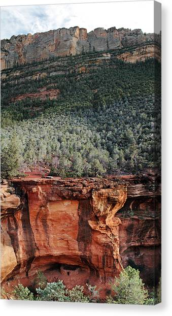 Step-in-the-wall Ruins Canvas Print by David Sunfellow