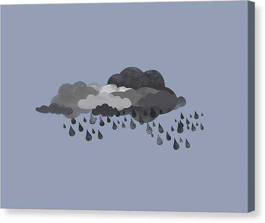 Raining Canvas Print - Storm Clouds And Rain by Jutta Kuss