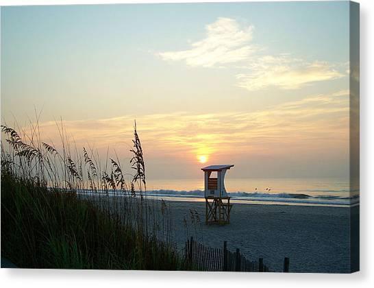 Sunrise Over Wrightsville Beach Canvas Print