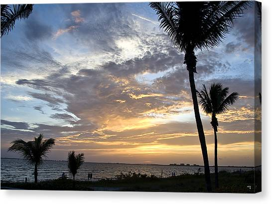 Sunset - Fort Myers Florida Canvas Print