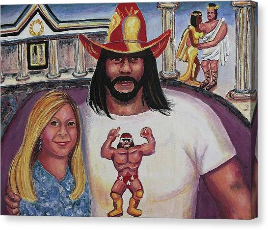 Randy Savage Canvas Print - Suzanne With The Macho Man by Suzanne  Marie Leclair