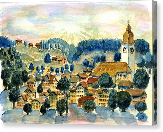 Swiss Village Canvas Print