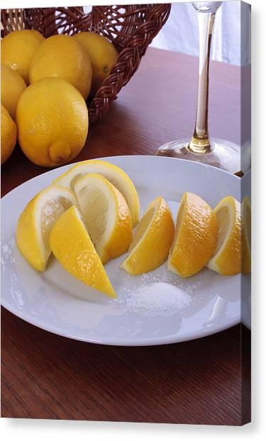 Taste Of Lemon Canvas Print by Christin Burrows