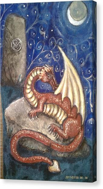 The Dragon Stone Canvas Print