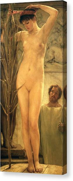 Figures Canvas Print - The Sculptor's Model by Sir Lawrence Alma-Tadema