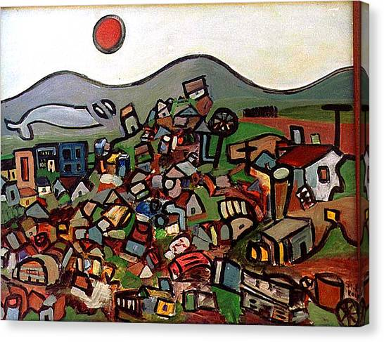 Trash Montain Canvas Print by Michael Keogh