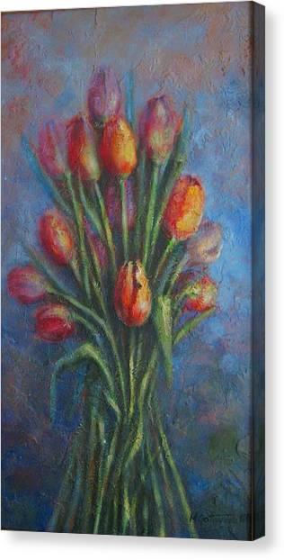 Tulips Canvas Print by Mirjana Gotovac
