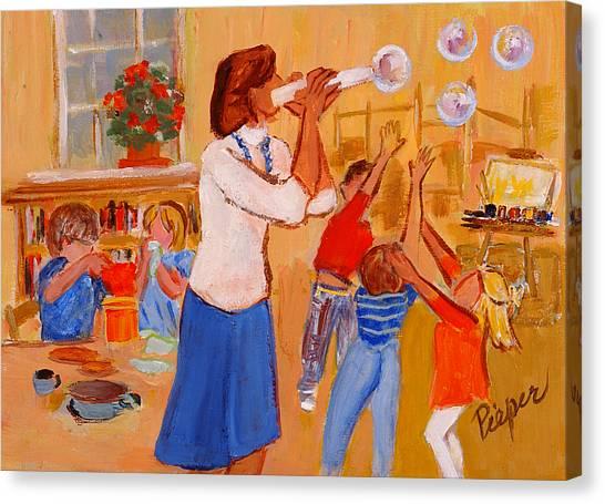 Village Nursery School Canvas Print