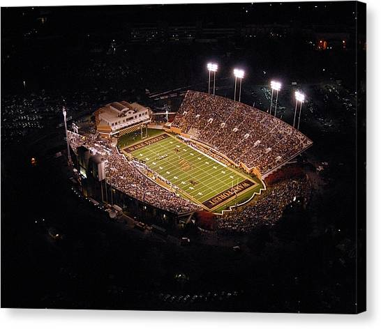 Acc Canvas Print - Wake Forest Aerial View Of Bb And T Field by John Grogan
