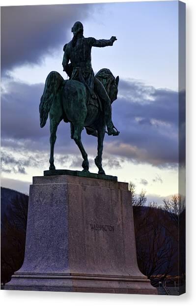Washington Monument At West Point Canvas Print