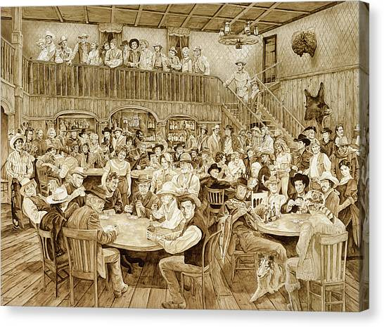 Johnny Cash Canvas Print - Western Saloon by Tim Joyner