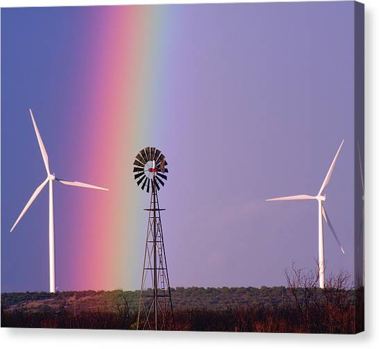Windmill Promises Old And New Canvas Print