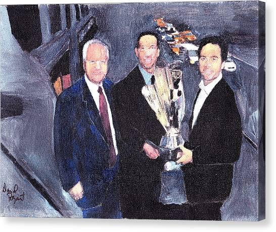 Winning Nascar Canvas Print by David Poyant