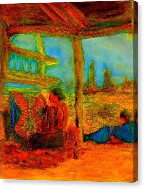 Woven Times Canvas Print
