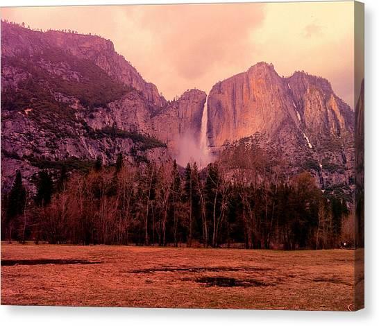 Yosemite Falls Canvas Print - Yosemite Falls View by Denise Taylor