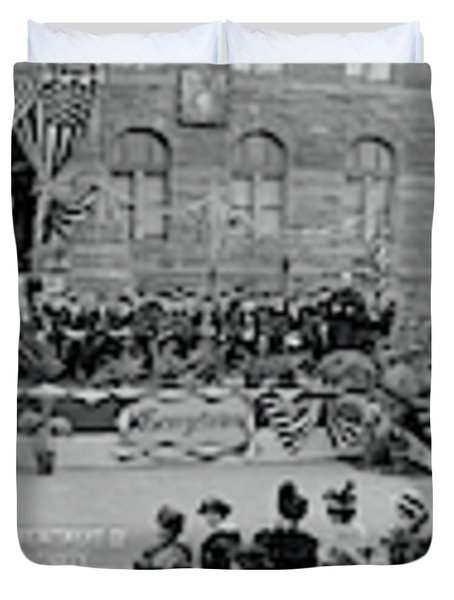 Commencement Georgetown University Duvet Cover by Fred Schutz Collection