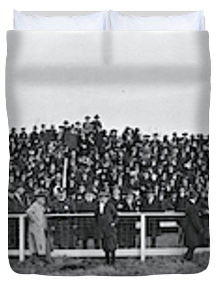 George Washington University  Fans  Vs Duvet Cover by Fred Schutz Collection
