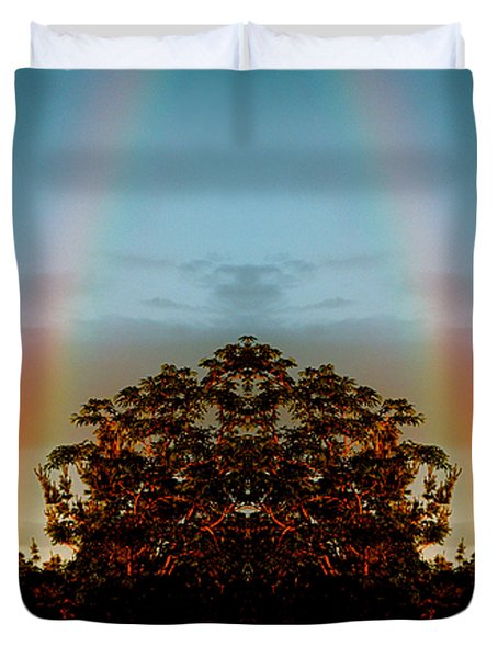 The Rainbow Effect Duvet Cover by Sue Stefanowicz