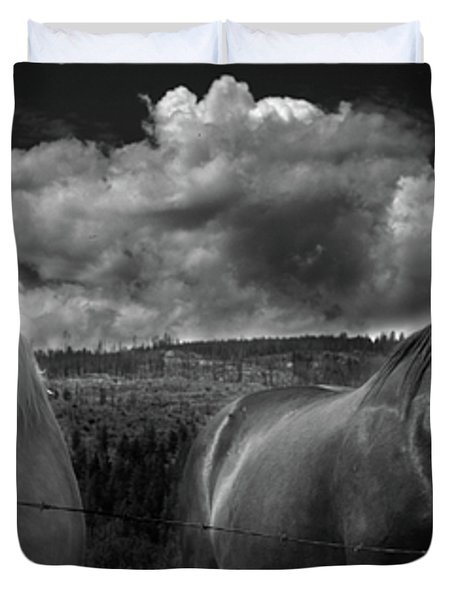 Us Duvet Cover by Jerry Cordeiro
