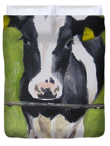 A Heifer Duvet Cover by Jindra Noewi