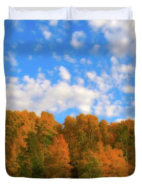 Duvet Cover featuring the photograph Aspens by Steve Stuller