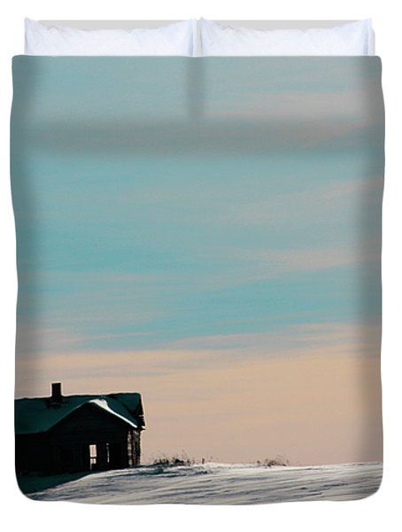 Baby Blue Duvet Cover by Empty Wall