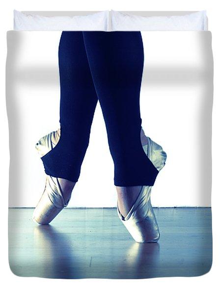 Ballet Feet 1 Duvet Cover by Scott Sawyer