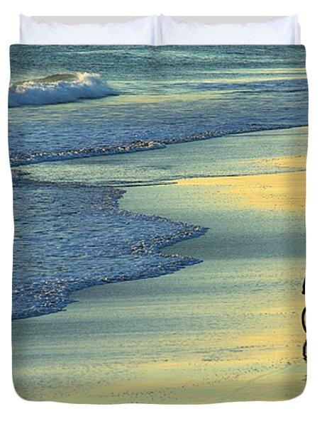 Beach Biker Duvet Cover by Carlos Caetano