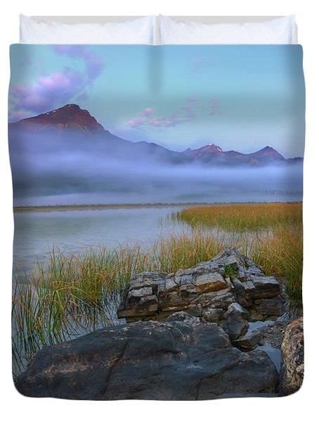 Beauty Creek Dawn Duvet Cover by Dan Jurak