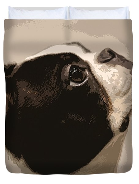 Boston Terrier Duvet Cover by Donna G Smith