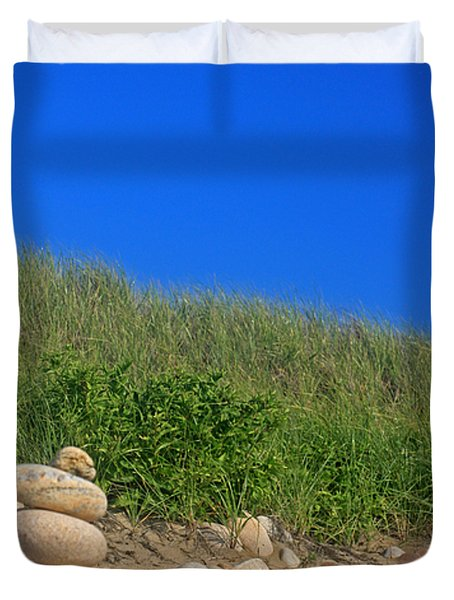 Cairn Dunes And Moon Duvet Cover by Todd Breitling