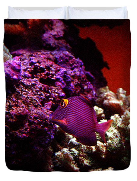 Duvet Cover featuring the photograph Colors Of Underwater Life by Clayton Bruster