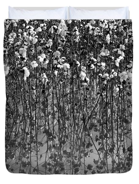Cotton Abstract In Black And White Duvet Cover by Kathy Clark