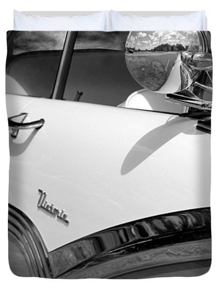 Creative Chrome - 1956 Ford Fairlane Victoria Duvet Cover by Betty Northcutt