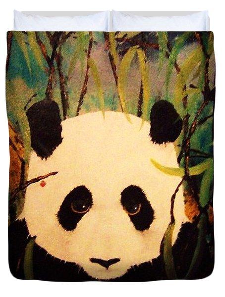 Endangered Panda Duvet Cover