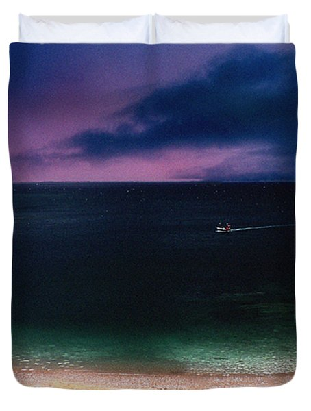 Evening On The Headland  Duvet Cover